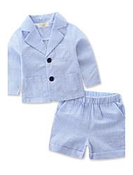 cheap -Boys' Striped Stripe Stripes Clothing Set,Cotton Polyester Summer Short Pant Stripes Blue