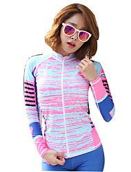 New Korean Zipper Suits Swimwear Women Split Swimsuit Diving Surf Clothing Sunscreen Was Thin Hot Spring Clothes