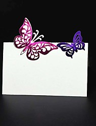 cheap -40pcs 3D Butterfly Wedding Table Place Card Name Card Wedding Party Table Decoration Laser Crafts Event Party Supplies