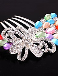 cheap -Rhinestone Alloy Hair Combs 1 Wedding Special Occasion Halloween Anniversary Birthday Congratulations Party / Evening Thank You Office &