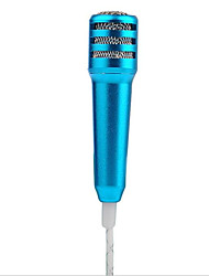 Mini Microphone Stereo Condenser Sound Recording Mic with Earphone for iPhone iPad Chatting Singing Karaoke