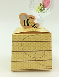 Cubic Card Paper Favor Holder With Gift Boxes-50 Wedding Favors