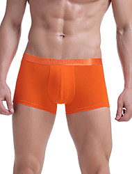 cheap -Men's Solid Shorts & Boyshorts Panties Ultra Sexy Boxers Underwear Cotton/Spandex Green/Royal Blue/Orange