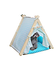 cheap -Cat Dog Bed Pet Baskets Polka Dot Keep Warm Adjustable/Retractable Soft Tent Orange Blue