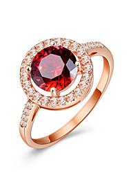 preiswerte -Damen Ring Synthetischer Rubin Klassisch Elegant Synthetische Edelsteine Kubikzirkonia Kreisförmig Modeschmuck Hochzeit Jahrestag Party
