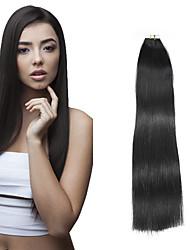 Недорогие -Febay На ленте Расширения человеческих волос Прямой человеческие волосы Remy Клубничный блондин