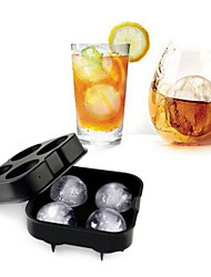 cheap -Whiskey Cocktail Ice Cube Tray 4 Large Mold Silicone Ice Ball Maker Large Ice Cube Molds Make
