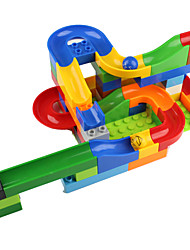 cheap -Balls Marble Track Set Marble Run Educational Toy Toys 3D Plastics High Quality 1 Pieces Children's Christmas Children's Day Gift