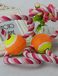 cheap -Dog Toy Pet Toys Ball Teeth Cleaning Toy Cute Elastic Nylon Cotton For Pets