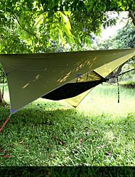 Недорогие -Кемпинговый гамак с противомоскитной сеткой Защита гамака от дождя На открытом воздухе Водонепроницаемость Защита от солнечных лучей Защита от комаров Парашют Нейлон с карабинами и ремнями для 2