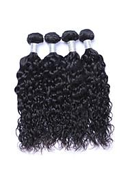 Short Size 4 Bundles/Lot 400g Brazilian Virgin Remy Human Hair Wefts 100% Unprocessed Natural Black Natural Wave Human Hair Weaves/Extensions
