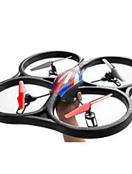 abordables -RC Drone WL Toys V262 4 Canaux 6 Axes 2.4G Quadri rotor RC Lampe LED Retour Automatique Auto-Décollage Sécurité Intégrée Mode Sans Tête
