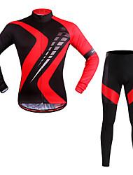 WOSAWE Fahrradtrikots mit Fahrradhosen Unisex Langarm Fahhrad Kleidungs-Sets Feuchtigkeitsabsorbierend Schnell trocken Atmungsaktivität