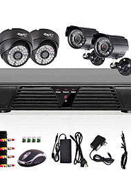 cheap -4 Channel DVR Security Systems NTSC 768(H) x 494(V) PAL 752(H) x 582(V)