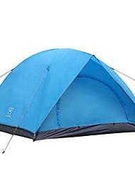 baratos -3-4 Pessoas Tenda Dupla Camada Barraca de acampamento Ao ar livre Prova-de-Água, Á Prova-de-Chuva, Secagem Rápida para Acampar e Caminhar >3000 mm Fibra de Vidro, Terylene