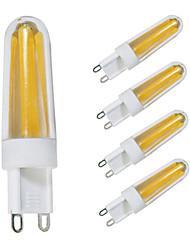 economico -5 pezzi 4W 350-390 lm G9 Luci LED Bi-pin T 4 leds COB Bianco caldo Bianco AC 110V AC 220V