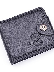cheap -Men's Bags Polyester / PU Money Clip for Shopping / Daily Black / Coffee / Dark Coffee
