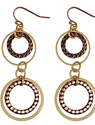 cheap -Drop Earrings Women's Vintage Hollow Out Circle Multilayer Earrings For Women Party  Daily Movie Jewelry