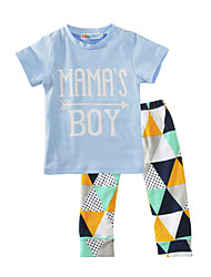 cheap -Baby Kids' Indoor Outdoor Daily Print Clothing Set Summer