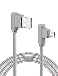 cheap -Micro USB Quick Charge Braided Cable For Samsung Huawei Sony LG Lenovo Xiaomi cm Nylon