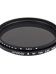 Andoer 52mm nd fader neutro densidade ajustável nd2 a nd400 filtro variável para canon nikon dslr camera