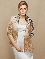 cheap -Chiffon Wedding Party / Evening Women's Wrap With Leopard Shawls