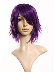 cheap -30cm Synthetic Cosplay Short Wig Purple  Costume Party Dress Wig for Women Men