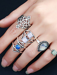 cheap -Women's Ring Circular Fashion Rock Multi-ways Wear Metal Alloy Resin Rhinestone Alloy Circle Round Jewelry ForBirthday Event/Party Casual