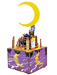 baratos -Quebra-Cabeças de Madeira Construções Famosas MOON Desenho Faça Você Mesmo De madeira Composto Crianças Dom