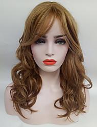Donna Parrucche sintetiche Senza tappo Medio Ondulati Media Auburn Parrucca naturale costumi parrucche