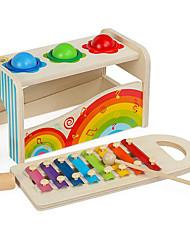 Недорогие -Ксилофон Молот / Ударная игрушка Игрушки для младенцев Игра Gopher Игра для всей семьи Игрушки Образование Веселье деревянный Дерево
