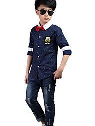 Boy Casual/Daily Color Block Hoodie & Sweatshirt,Cotton Winter Long Sleeve Regular