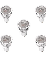 cheap -5pcs 3W 260-300lm GU10 LED Spotlight MR16 3 LED Beads High Power LED Dimmable Warm White / White 220-240V / 5 pcs