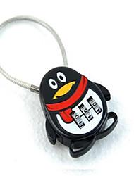Seeyoga MM0133 Zinc Alloy Padlock Padlock 3 Digit Password Mini Travel Anti-Theft Wire Rope Lock Steel Wire Lock Bag Lock Dail Lock Password Lock