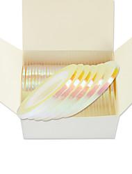 cheap -1mm100pcs/box 2mm50pcs 3mm30pcs Nail Art Glitter Rainbow Foil Striping Tape Line 3D Nail Line Stickers DIY Design Decoration