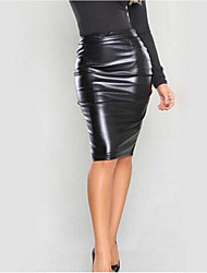 cheap -Women's Party Bodycon Skirts - Solid Colored