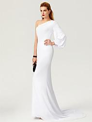 levne -Mermaid / trumpet jeden ramenní zametací / kartáč vlak dres formální večerní šaty ts couture®