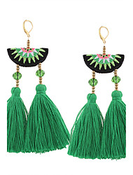 Women's Drop Earrings Jewelry Tassel Vintage Bohemian Euramerican Fashion Cotton Alloy Irregular Jewelry ForWedding Anniversary