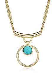 cheap -Women's Geometric Dangling Style Pendant Tassel Basic Multi-ways Wear Choker Necklace Pendant Necklace Statement Necklace Metal Alloy