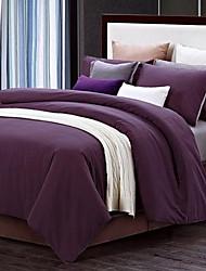 economico -Tinta unica 4 pezzi Cotone Cotone 1 Copripiumino Copri cuscino (2 pz.) Lenzuolo (1 pz.)