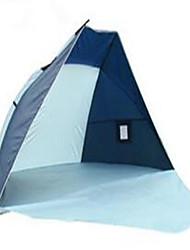 preiswerte -3-4 Personen Camping Polster Strandzelt Camping Zelt Falt-Zelt UV-resistant für Camping & Wandern Sonstiges Material CM