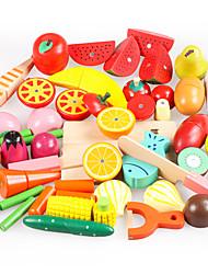 Недорогие -Игрушечная еда Ролевые игры Овощи Фрукт Овощи и фрукты Магнитный моделирование деревянный Дерево Игрушки Подарок