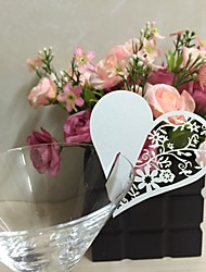 50pcs Lovely Heart Laser Cut Baby Shower Party Table Name Place Cards Birthday Party Decoration Wedding Favors Party Supplies
