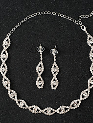 cheap -Women's Jewelry Set - Unique Design / Tassel / Classic Single Strand Silver Jewelry Set For Wedding / Party / Special Occasion
