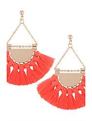 cheap -Women's Tassel Drop Earrings - Personalized, Tassel, Bohemian Beige / Yellow / Red For Wedding / Anniversary / Housewarming
