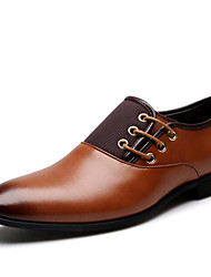 cheap -Men's Shoes Nappa Leather Spring Fall Formal Shoes Comfort Oxfords for Casual Party & Evening Black Brown