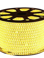 cheap -HKV® 1PCS 5M LED Strip 2835SMD 600Led IP67 Waterproof With EU Power Plug LED Tape Light String AC 220-240V