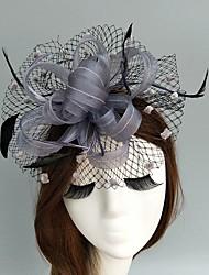 cheap -Flax Net Fascinators Hats Birdcage Veils Headpiece Elegant Style