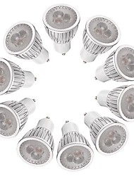 cheap -3W 260-300 lm GU10 LED Spotlight MR16 3 leds High Power LED Dimmable Warm White White AC 220-240V