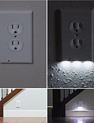 cheap -1Pcs Plug Cover LED Night Angel Wall Outlet Face Hallway Bathroom Light AC 110V